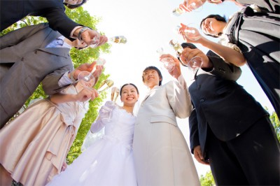 研究学園、結婚式二次会