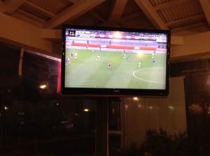 つくば研究学園、日本代表サッカー試合放送