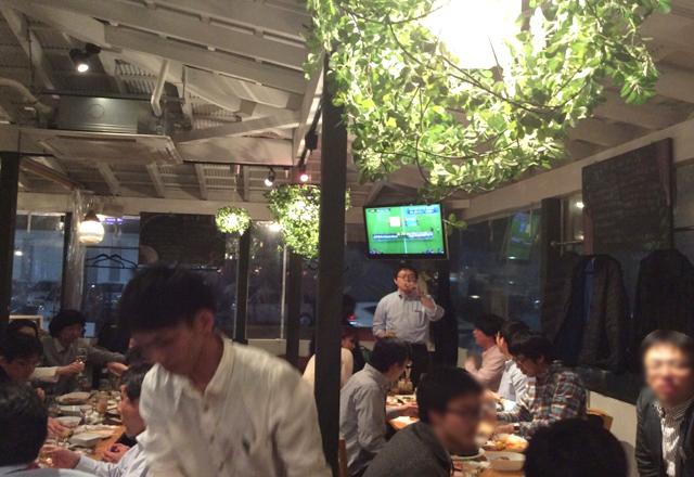 つくば研究学園のスポーツバーでサッカー日本代表戦