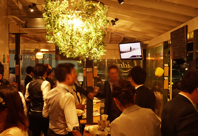 つくば市の結婚式場セントルミエールで結婚式。二次会は研究学園の洋風居酒屋、東京バルタケオ