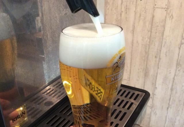 つくば研究学園で生ビール