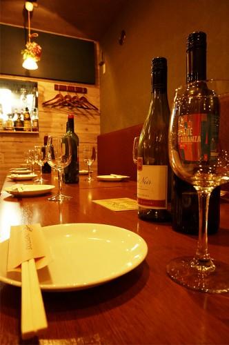 研究学園イタリアンレストラン風居酒屋。