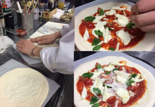 研究学園のイタリアンレストランが作る手造りピザ