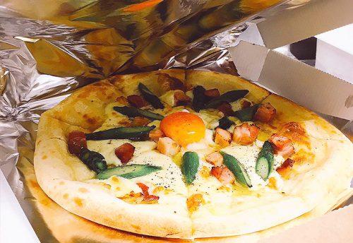 つくば研究学園イタリアンレストランのテイクアウト持ち帰りピザ